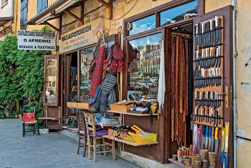 Estabelecimento comercial na ilha de Creta