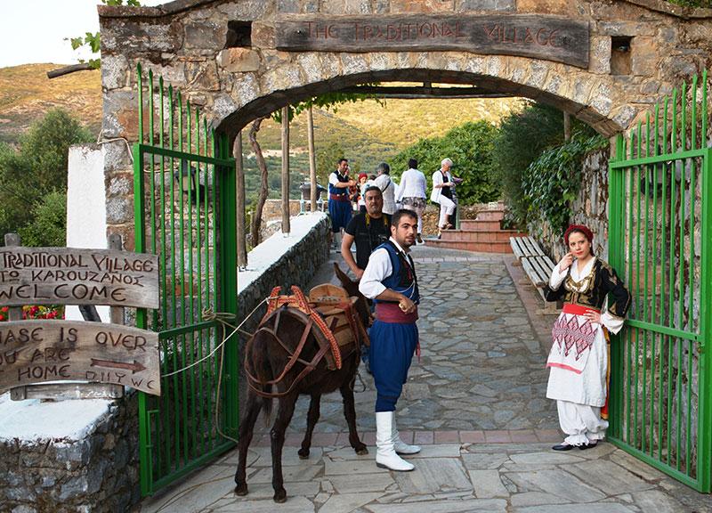 Vila tradicional em Creta