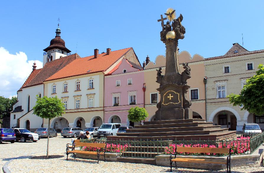 Bairro Nové Mesto na Cidade Nova em Praga