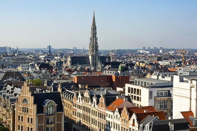 Vista da cidade de Bruxelas