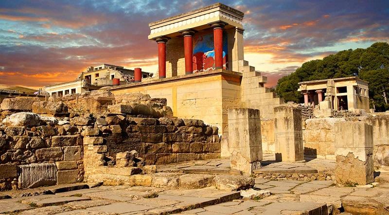 Palácio Knossos na ilha de Creta