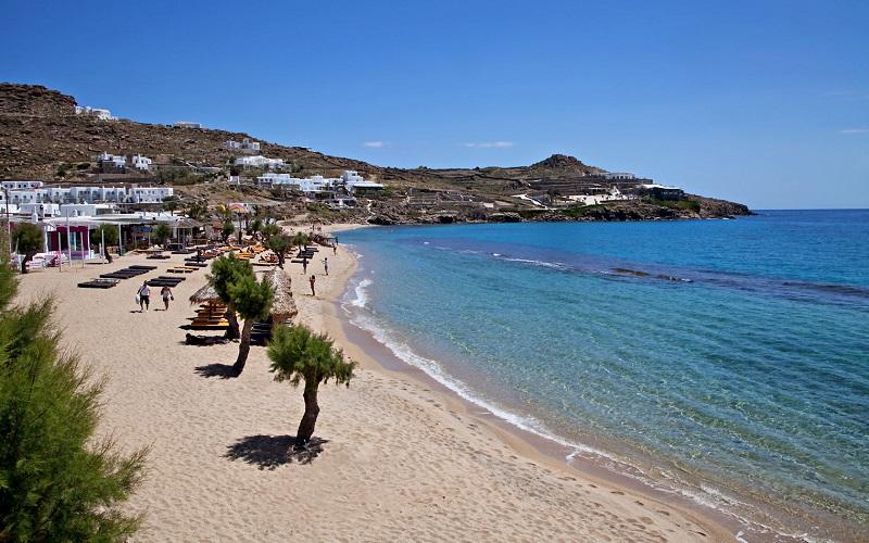 Praia Paradise em Mykonos