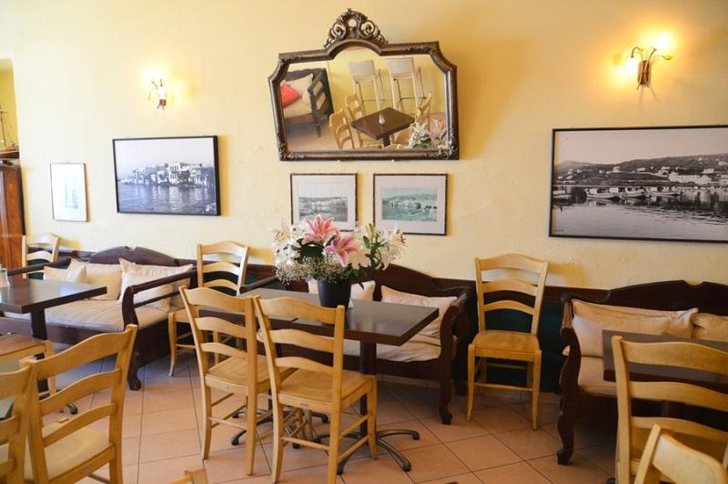 Madoupas Café na ilha de Mykonos