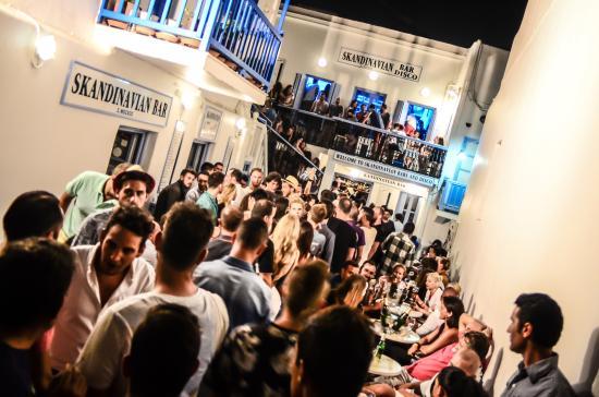Bar na ilha de Mykonos