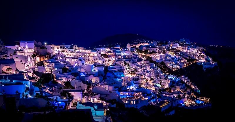 Baladas na ilha de Santorini   Grécia