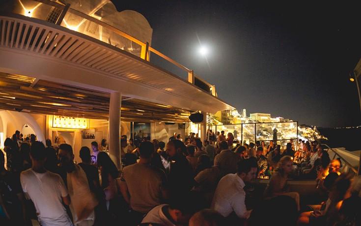 Tango Bar na ilha de Santorini