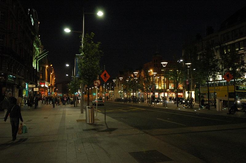 Rua O'Connell em Dublin