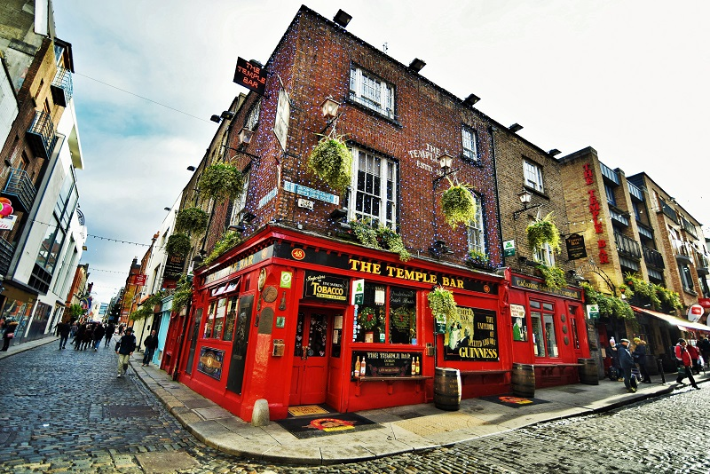 The Temple Bar em Dublin