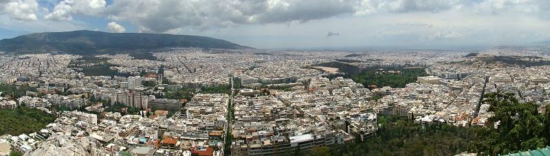 Monte Lykavittos em Atenas