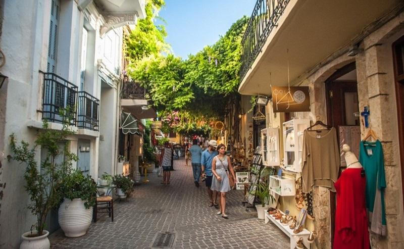 Ruas de Rethymnon em Creta