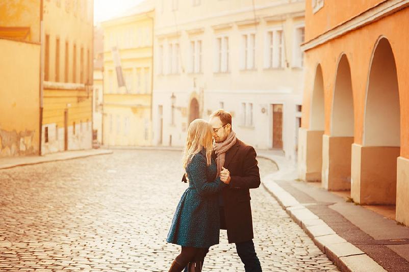 Passeios românticos em Praga na República Checa