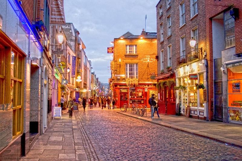 The Temple Bar em Dublin