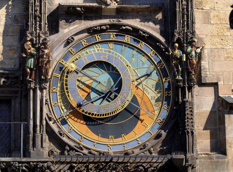 Torre do relógio astronômico em Praga na República Checa