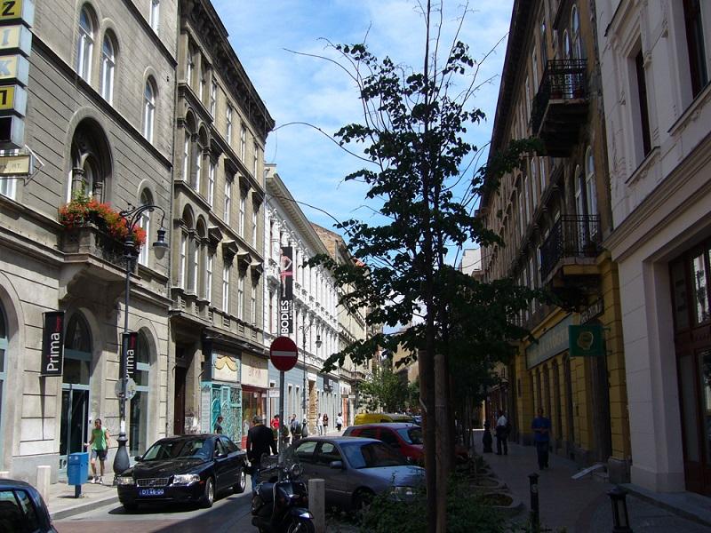 Região de Erzsébetváros em Budapeste