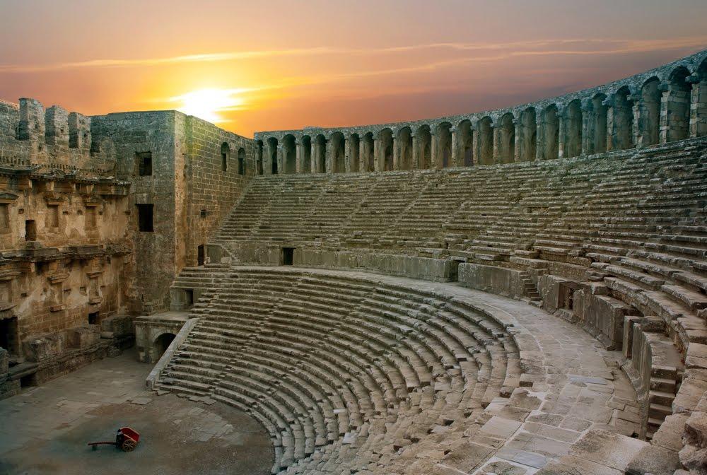 Teatro de Aspendos em Antália na Turquia