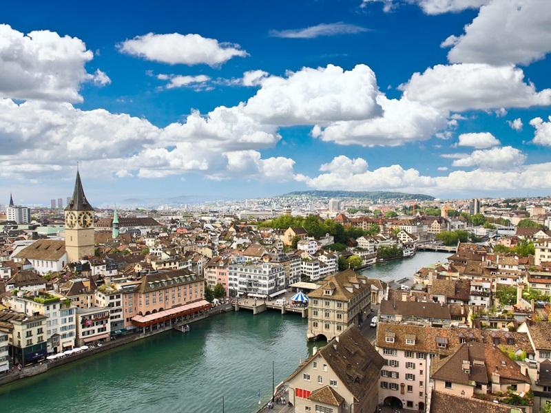Clima e temperatura em Zurique na Suiça