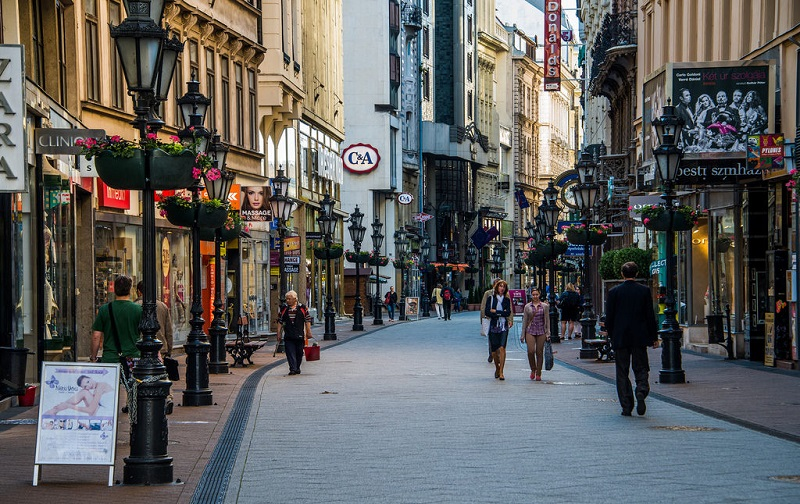 Região de Belvaros em Budapeste