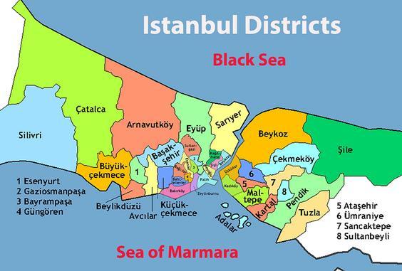 Divisão de distritos de Istambul