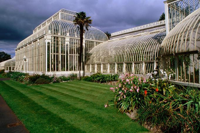 Casa de vidro do Jardim Botânico de Dublin