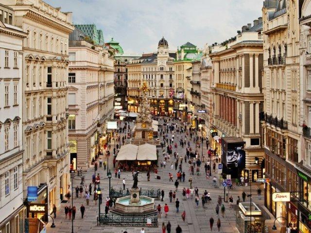 Rua Karntner Strasse em Viena | Áustria