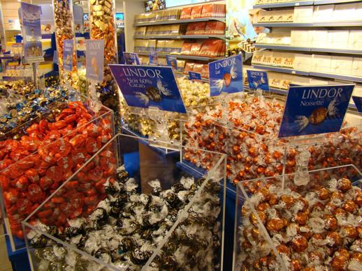 Loja de chocolates em Zurique