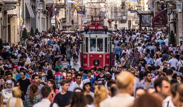 Lojas na Avenida Istiklal em Istambul