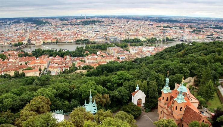 Vista da Colina Petrín em Praga