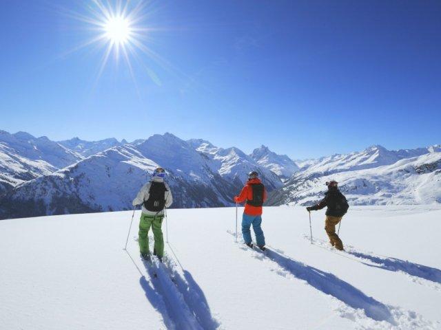 Quando tem neve para esquiar na Áustria