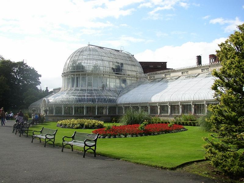 Centro de visitantes no Jardim Botânico de Dublin