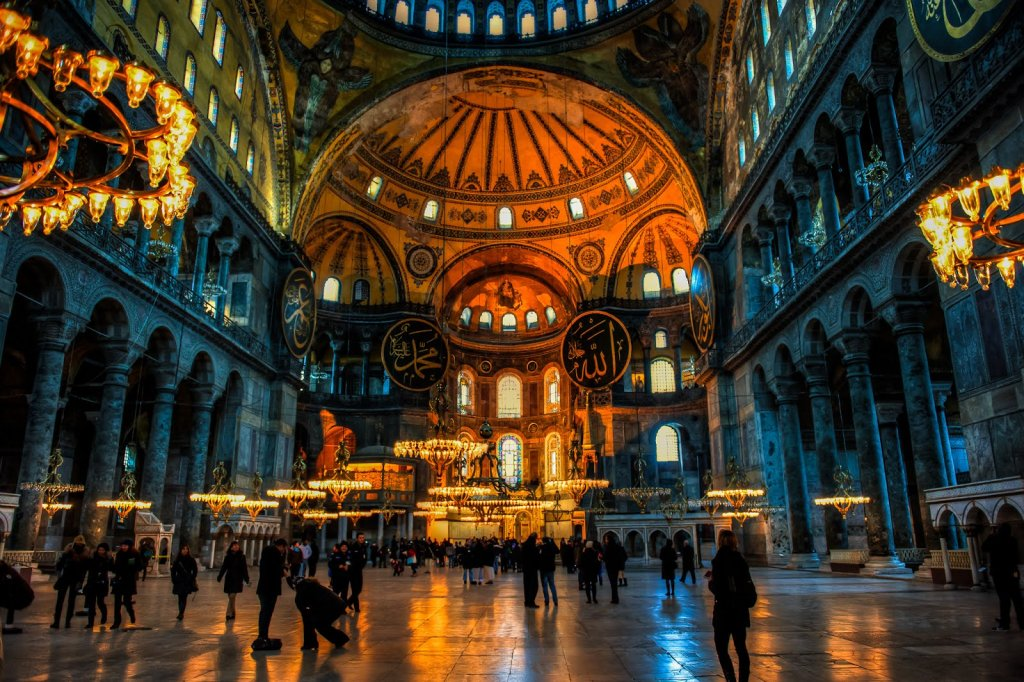 Basílica Santa Sofia em Istambul na Turquia