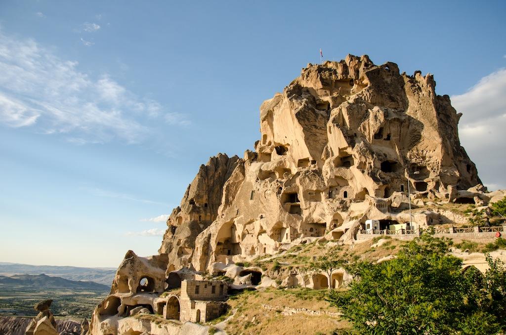 Vila de Uçhisar na Capadócia na Turquia