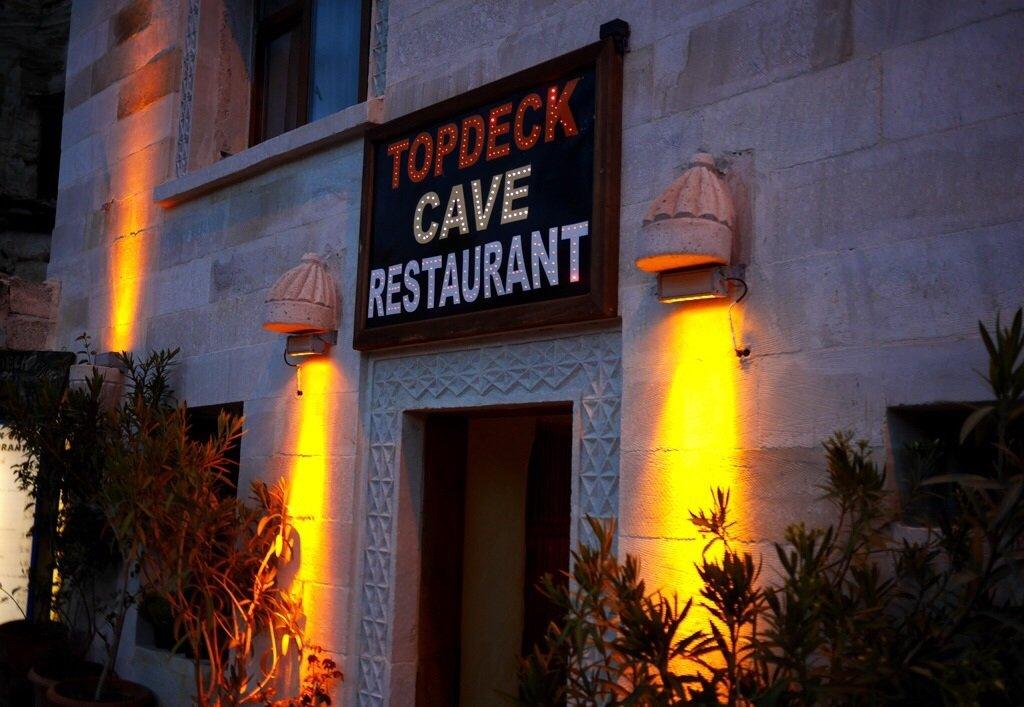 Restaurante Topdeck Cave na Capadócia