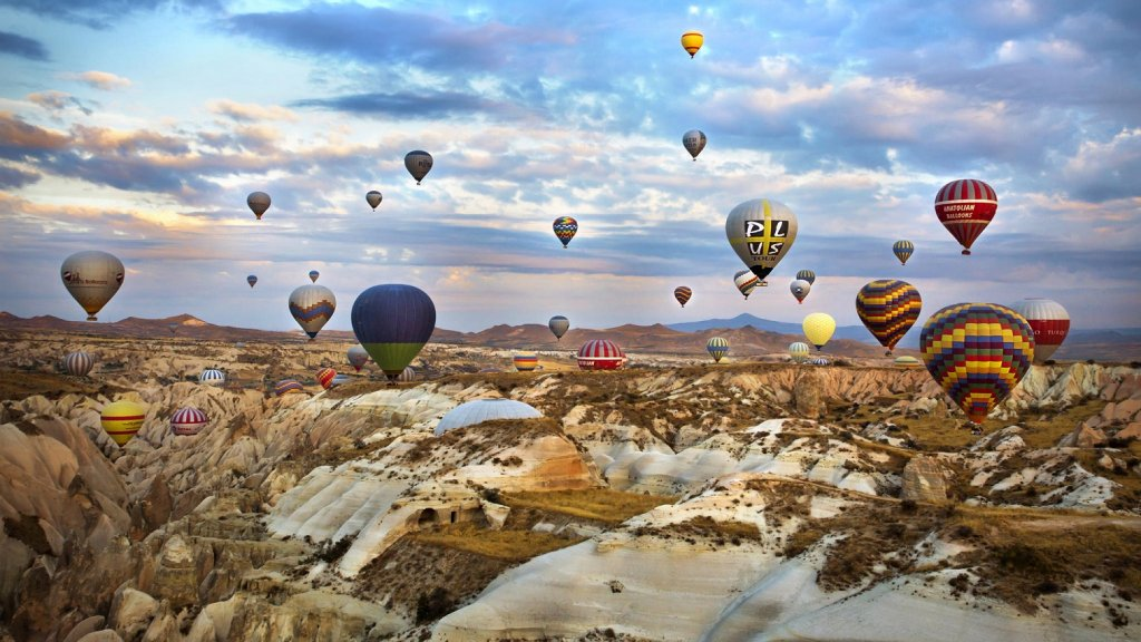 Voo de balão pela Capadócia na Turquia
