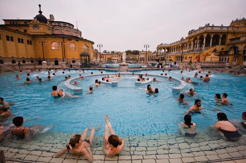 Complexo Széchenyi Baths em Budapeste