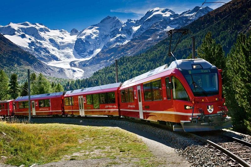 Viajar de trem pela Suíça