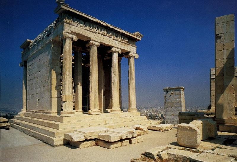 Templo de Atena Nike em Atenas: monumento da Acrópole de Atenas