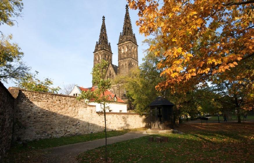Castelo de Vysehrad em Praga na República Checa