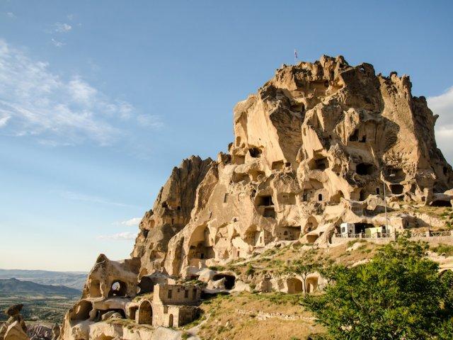 Vila e Castelo de Uçhisar na Capadócia | Turquia