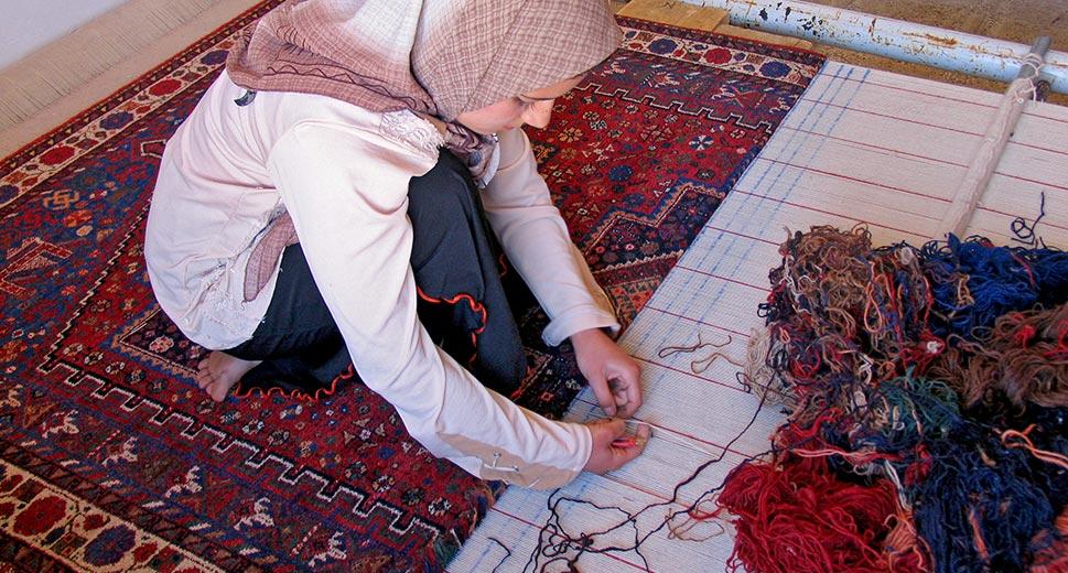 Fabricação de tapetes nos Ateliês de arte da Capadócia