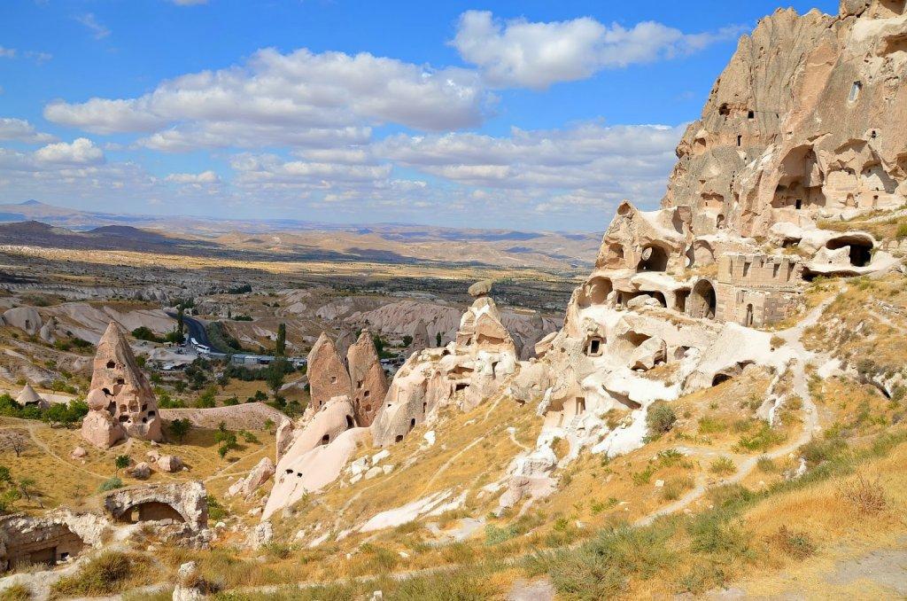 Vista da Vila de Uçhisar na Capadócia