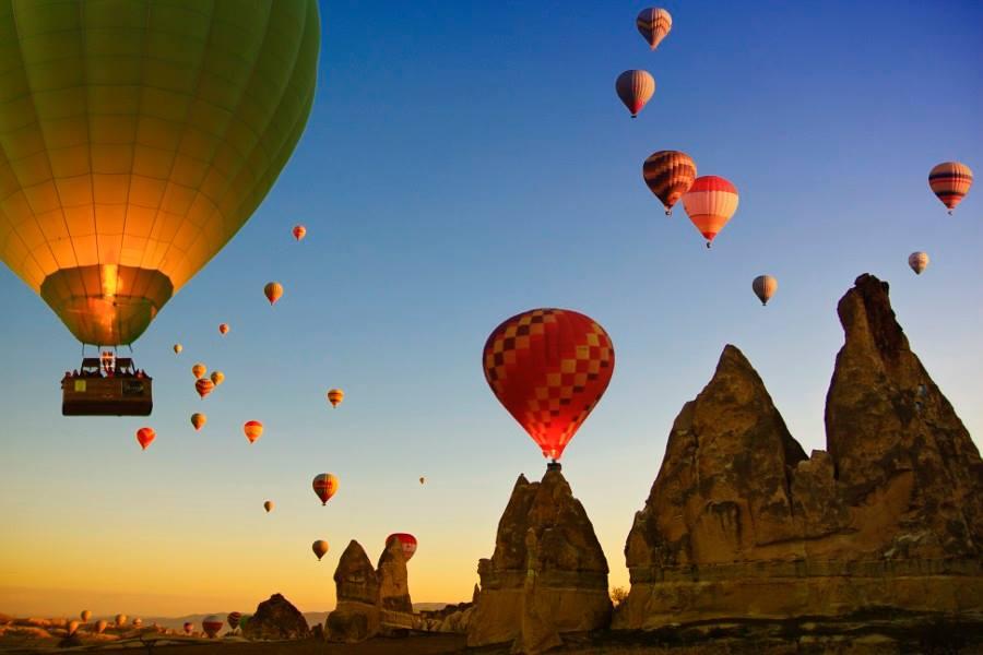 Voo de balão na Capadócia na Turquia